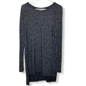 Maurices dark gray crew neck sweater tunic